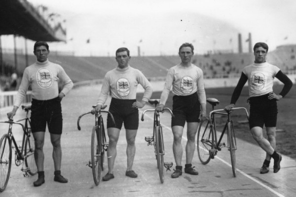 London 1908 Olympic cyclists