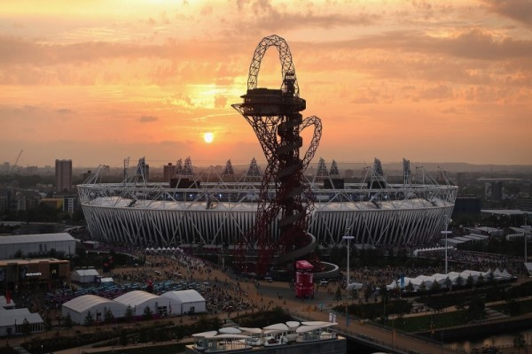 Sunset over the Olympic Stadium