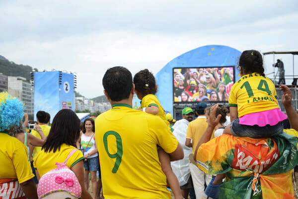 Fans watching the Games