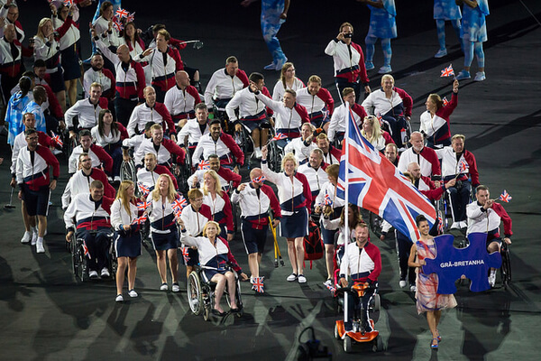 Rio 2016 ParalympicsGB enter the Stadium