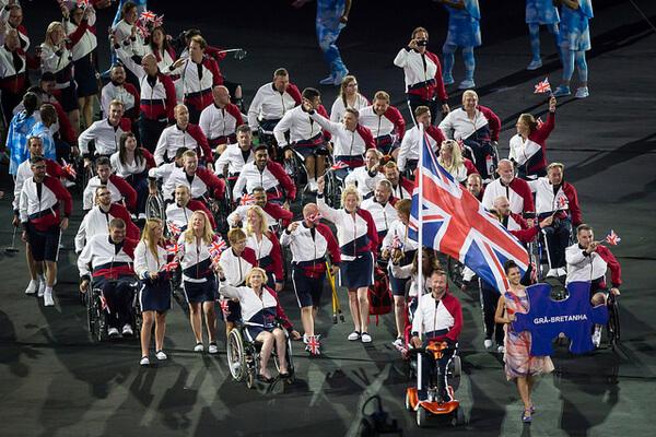 Rio 2016 ParalympicsGB enter the Stadium