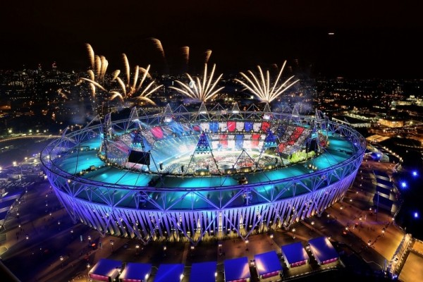 Fireworks at the London 2012 Olympic Opening Ceremony