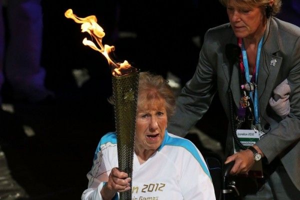 Lighting the Paralympic Cauldron