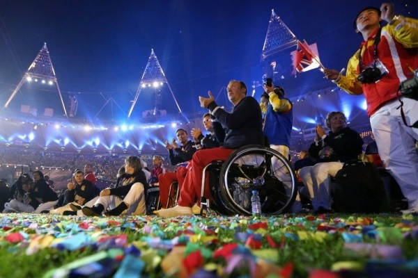 Paralympic athletes enjoy the show