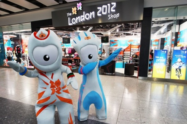 Wenlock and Mandeville go shopping