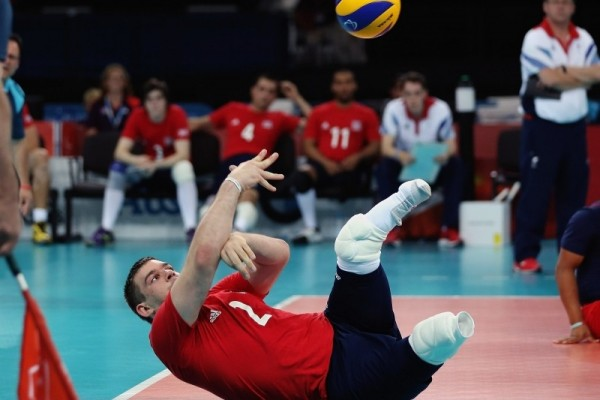 Justin Philips Sitting Volleyball