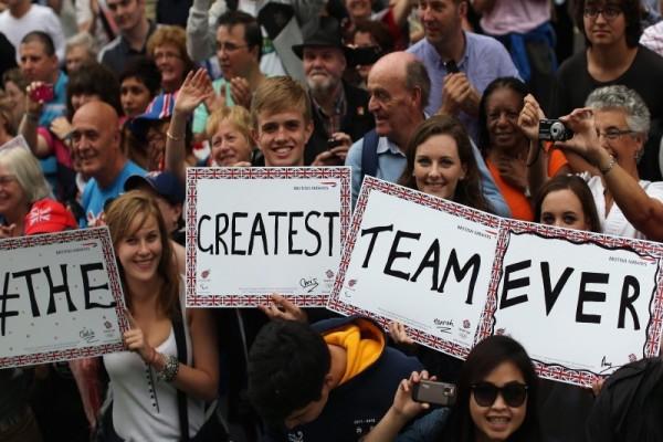 London 2012 Athletes Parade banner
