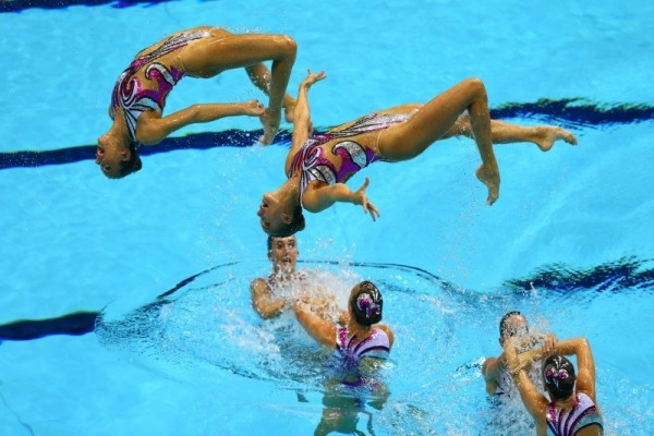 Womens Synchronised Swimming Team