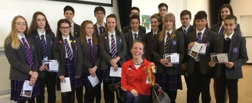Worthing High School meets Sophie Christiansen