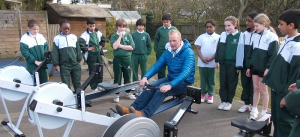 St Helen's College meet Olympic rower Alex Partridge!