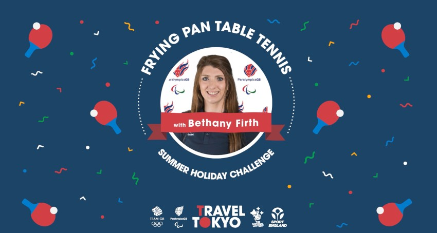 Bethany Firth's frying pan table tennis