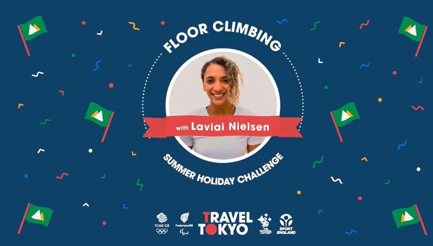 Laviai Nielsen's floor climbing