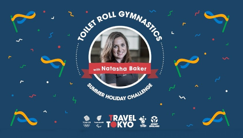 Natasha Baker's toilet roll gymnastics